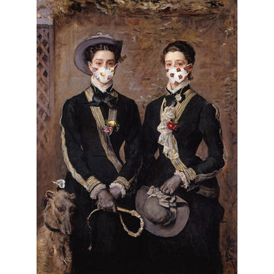 Greetings card - Fitzwilliam Museum Masterpieces 2020 Edition: The Twins, Kate and Grace Hoare by John Everett Millais. Brought to you by CuratingCambridge.co.uk