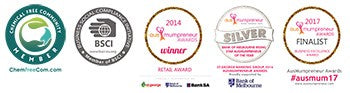 Award Badges that is awarded to Petit Bamboo