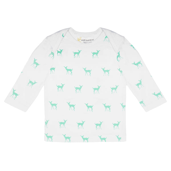 Long Sleeve Top | Bamboo | Deer Green - Petit Bamboo