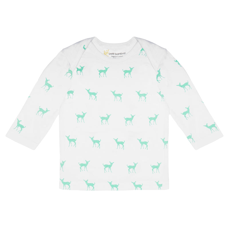 Long Sleeve Top | Bamboo | Deer Green