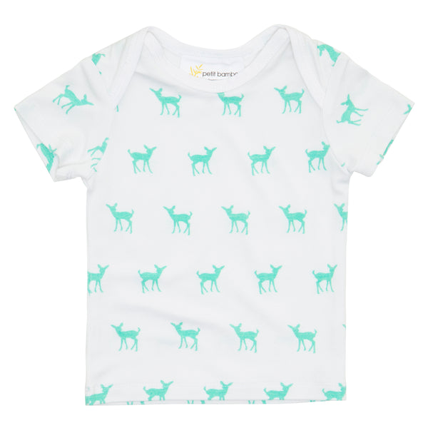 Short Sleeve Top | Bamboo | Deer Green - Petit Bamboo