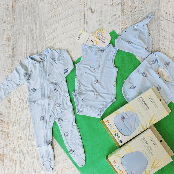 Newborn Set | Bamboo | Blue Space - Petit Bamboo