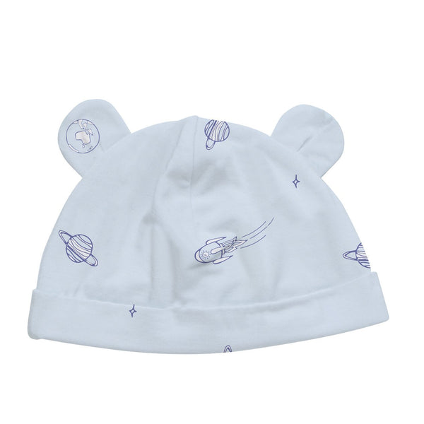 Baby Bamboo Beanie with Ears | Blue Space - Petit Bamboo