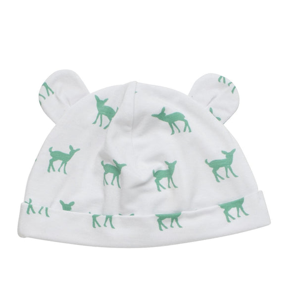 Baby Bamboo Beanie with Ears | Deer Green - Petit Bamboo