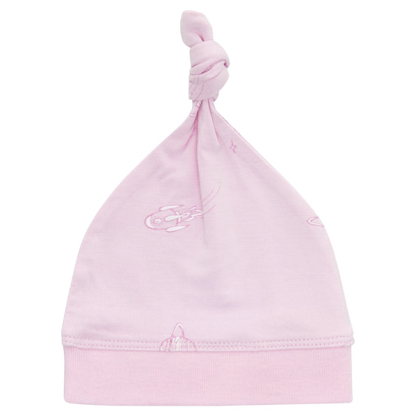 Baby Bamboo Knotted Beanie | Pink Space - Petit Bamboo