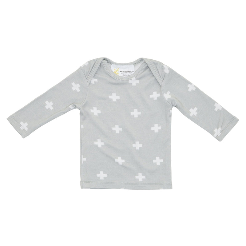 Baby Bamboo Long Sleeve Top | Reverse Cross - Petit Bamboo