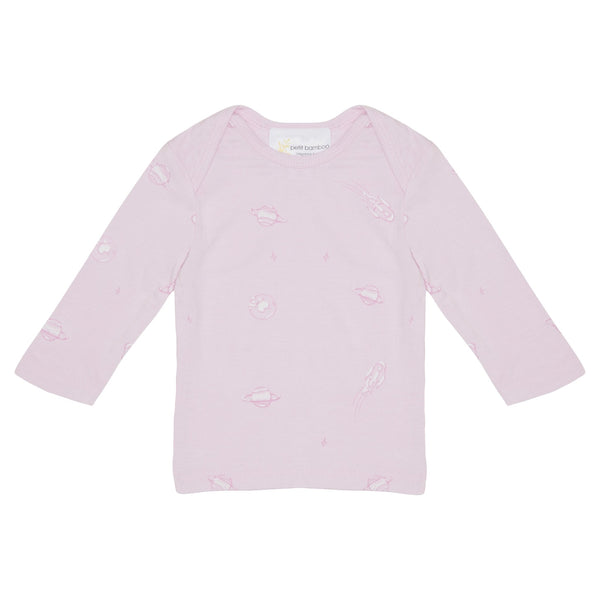 Baby Bamboo Long Sleeve Top | Pink Space - Petit Bamboo
