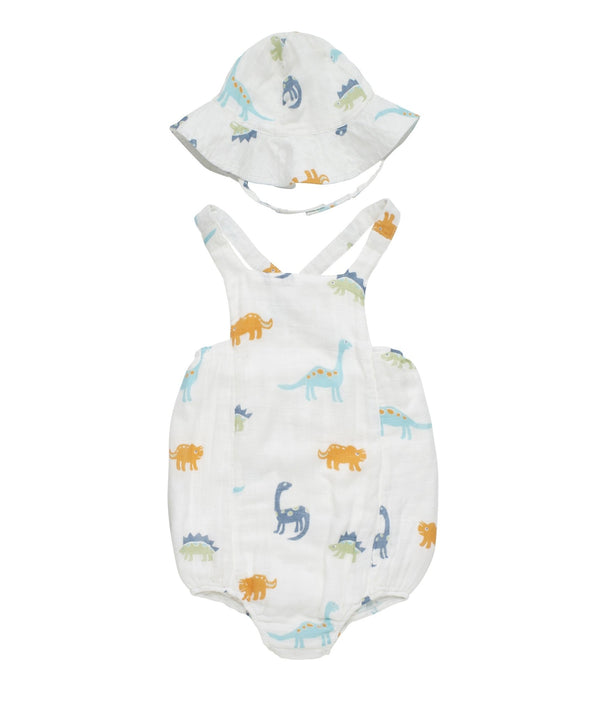 Baby Bamboo Woven Muslin Onesie | Dragon - Petit Bamboo