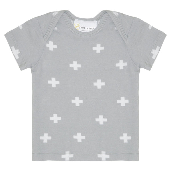 Baby Bamboo Short Sleeve Top | Reverse Cross - Petit Bamboo