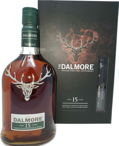 Dalmore 15 Year Highland Single Malt Scotch Whisky With 50ML King Alexander