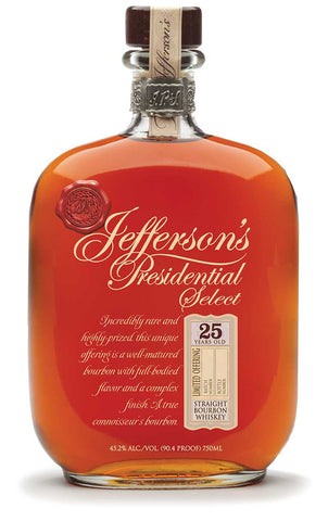 Jefferson's Presidential Select 25 Year Straight Bourbon Whiskey