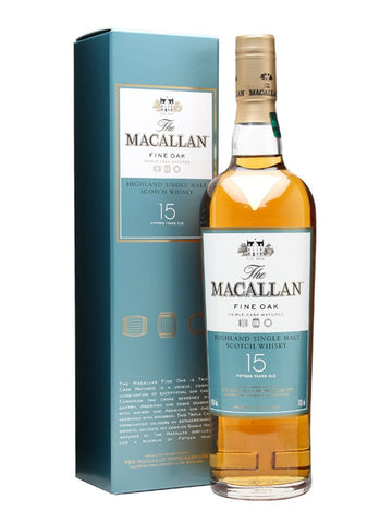 Macallan 15 Year Highland Single Malt Scotch Whisky