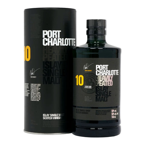 Port Charolette 10 Year Heavily Peated Islay Single Malt Scotch Whisky