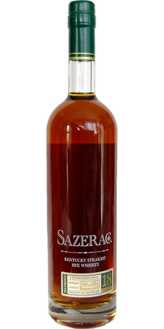 Sazerac 18 Year Kentucky Straight Rye Whiskey 2015
