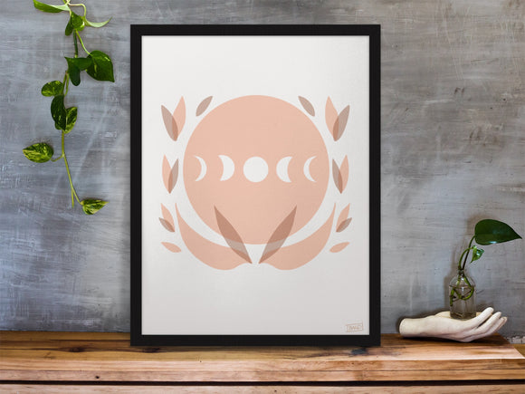 Lotus Moon art print 8.5x11