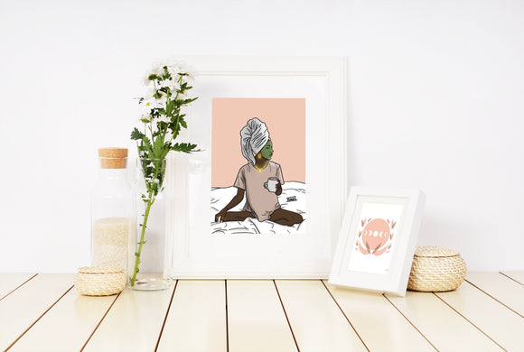 Self Care Day art print