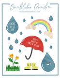 No Rain, No Rainbows sticker sheet