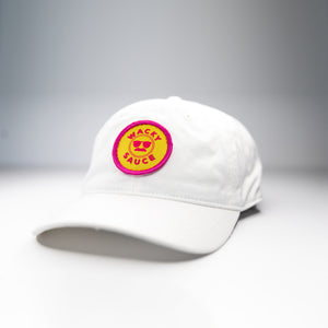 Wacky Sauce Dad Hat - White