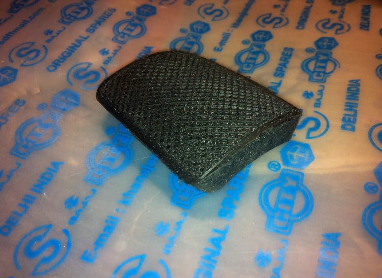 Lambretta Brake Pedal Rubber (Black)