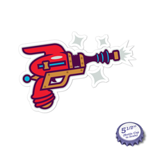 Load image into Gallery viewer, Ray Gun Stickers