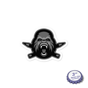 Clink Kong (B&W) Stickers