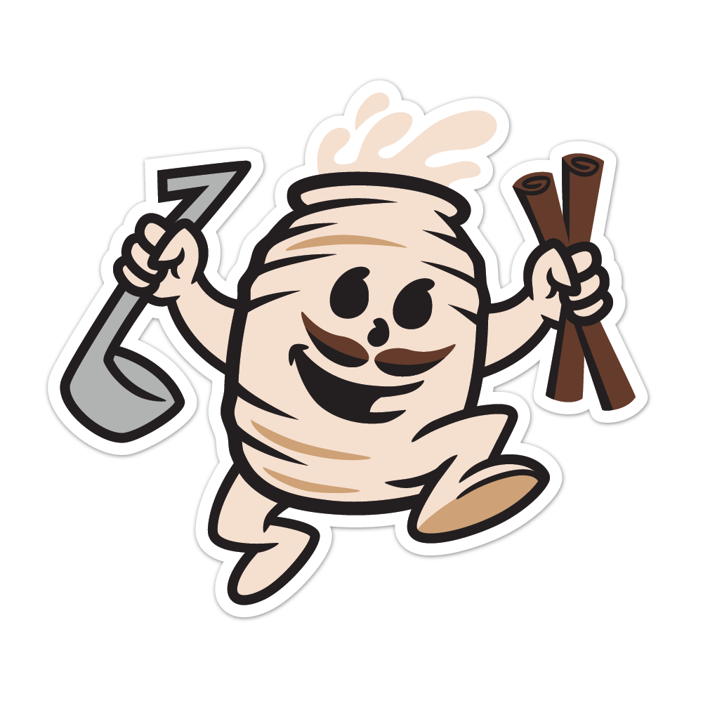 Horchata Man Stickers