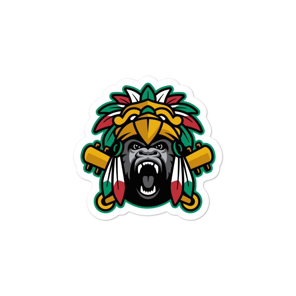 Aztec Kong Stickers