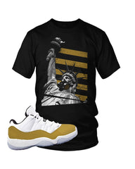 "Jordan 11 Low Gold Closing Ceremony ""Liberty Gas-Mask"" T-Shirt"