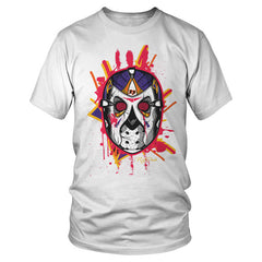 Jordan 8 Three Peat Jason Mask Shirt (White)