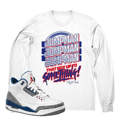 "Jordan 3 True Blue ""Jumpman"" Long Sleeve Shirt"