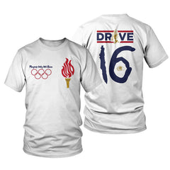 "Foamposite One Olympic USA ""Playing Dirty"" White Tee"