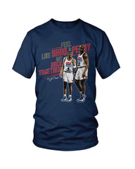 "Foamposite One ""Olympic"" USA Shaq & Penny T-Shirt"