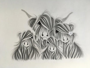 McMoo Drawing IV - Jennifer Hogwood