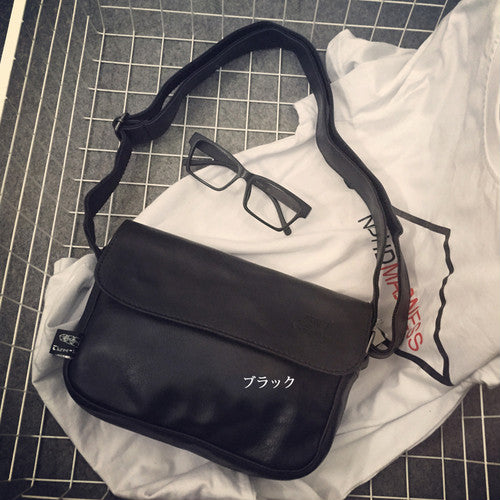 [Bag] Casual retro sports style plain oblique hanging bag