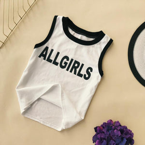 ALL GIRLS SPORTY ROUND NECK SINGLET TOP