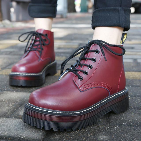 AUTUMN AND WINTER PLATFORM VINTAGE BOOTS