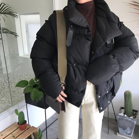 BEIGE BLACK GREEN PUFF QUILTED OUTWEAR JACKET