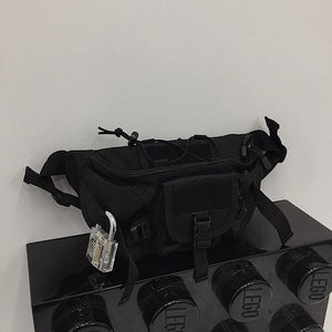 BLACK RAVE CLOTHING MULTI POCKET LARGE BUM BAG