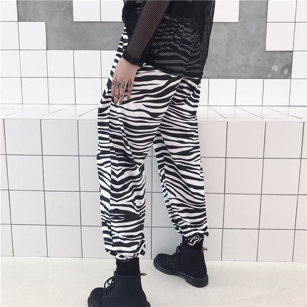 CHINESE CALLIGRAPHY PRINT LOOSE COMFY PANTS