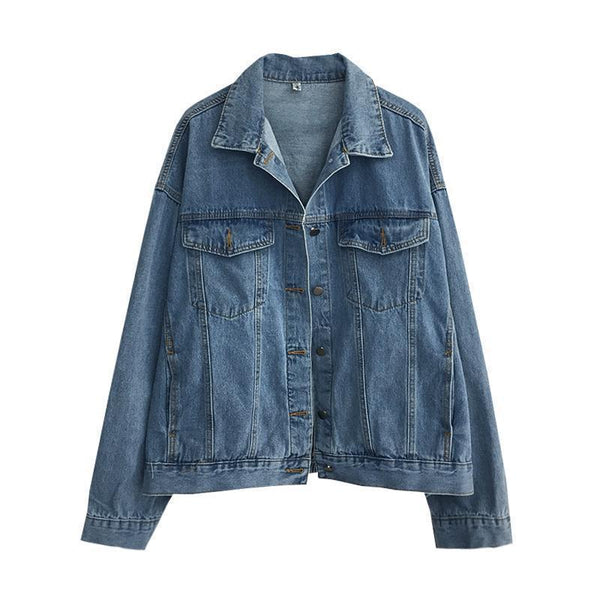 CLASSIC DENIM LIGHT BLUE WASHED OVERSIZED JACKET