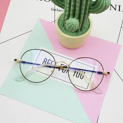 CLEAR ROUND FRAGILE FRAME CUTE GLASSES