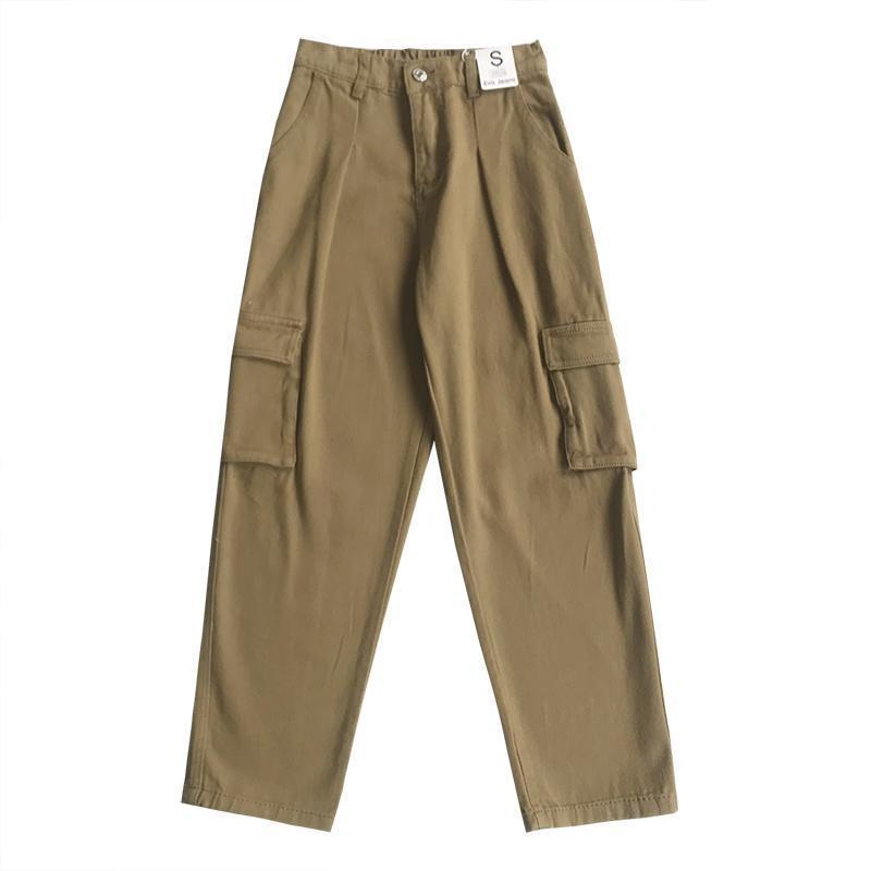 COMFY BIG POCKETS HIGH WAIST CARGO PANTS