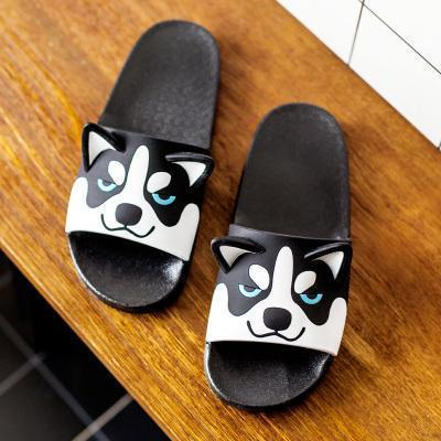 CUTE CAT DOG EARS COLORFUL PLASTIC FLAT SANDALS