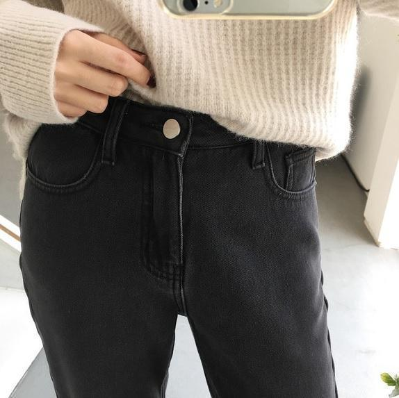 DENIM VELVET INSIDE WARM WINTER JEANS