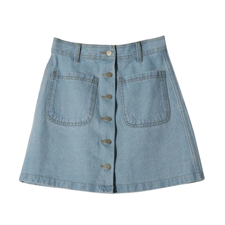 HIGH WAIST DENIM POCKET MINI SKIRT