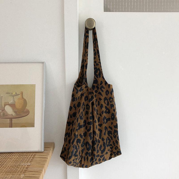 LEOPARD ANIMAL PRINT CANVAS BAG