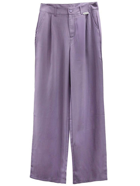 LILAC RETRO PASTEL AESTHETIC STRAIGHT CASUAL PANTS