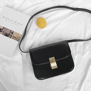 MESSENGER FLAP BLACK BROWN LEATHER CROSSBODY BAG
