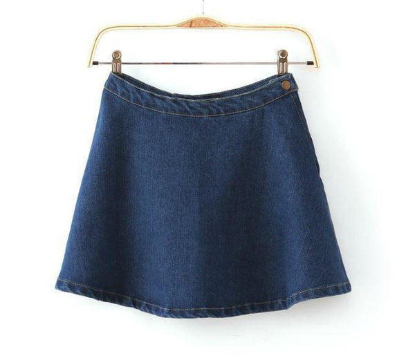 MINI SKIRT DENIM BLUE