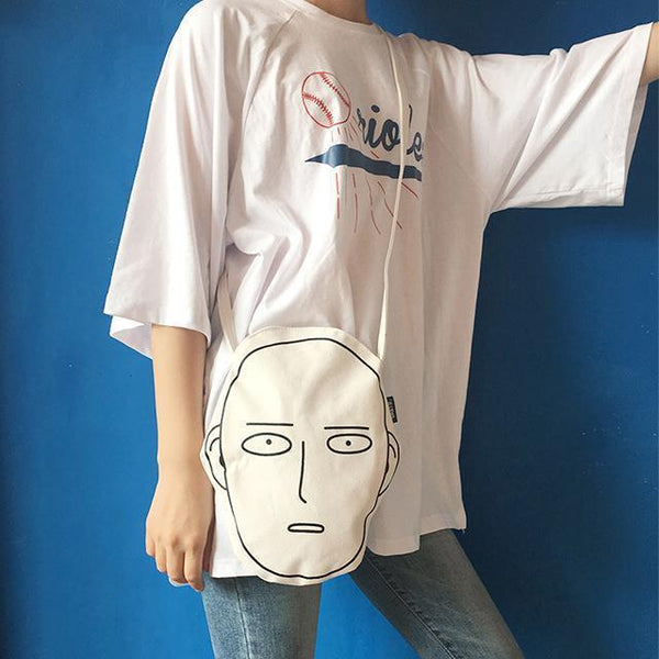 ONE PUNCH MAN ANIME HEAD CANVAS SHOULDER BAG